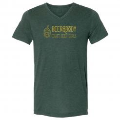 Beer & Body Logo Triblend Unisex V-Neck Tee