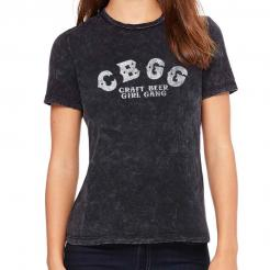 CBGB Logo Parody - Craft Beer Girl Gang - Womens Crew T-Shirt