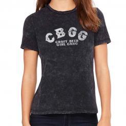 CBGB Logo Parody - Craft Beer Girl Gang - Womens Crew T-Shirt