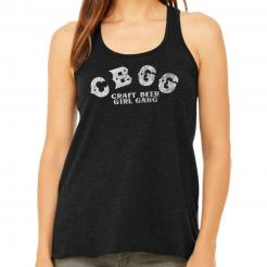 CBGB - Craft Beer Girl Gang - Distressed Vintage Women's Flowy Racerback Tank