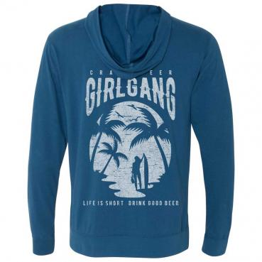 Craft Beer Girl Gang Surfer Sueded Zip Hoodie