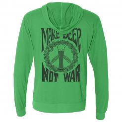 Make Beer Not War Sueded Zip Hoodie