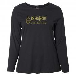 Beer&Body Long Sleeve Womens Curvy Tee