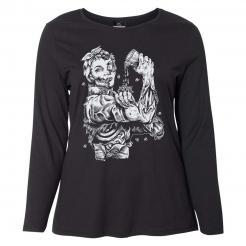 Zombie Riveter Girl Graphic Long Sleeve Womens Curvy Tee