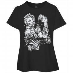 Zombie Riveter Girl Graphic Womens Curvy Tee