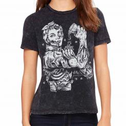 Zombie Riveter Girl Graphic - Womens Relaxed Fit T-Shirt