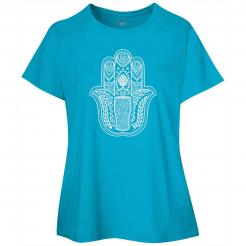 Hamsa Hand Craft Beer Graphic Womens Curvy Tee