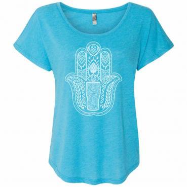 Hamsa Hand Craft Beer Yoga Womens Dolman T-Shirt