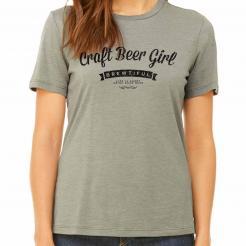 Craft Beer Girl Womens Graphic T-Shirt