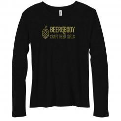 Beer&Body Logo  - Womens Relaxed Fit Long Sleeve Tee