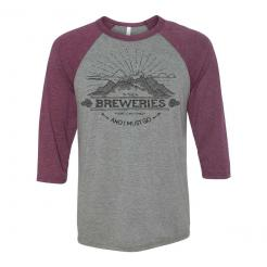 The Breweries are Calling and I Must Go - Mountain Raglan Baseball Jersey