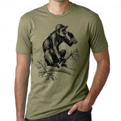 Beer Drinking Monkey Graphic Tee