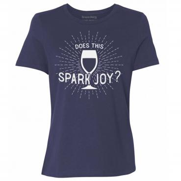 Konmari T-Shirt - Does this Wine Spark Joy? Graphic Tee