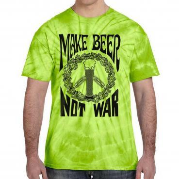 Make Beer Not War Festival Tie Dye Tee
