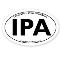 IPA Euro Oval Sticker