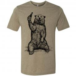 Beer Drinking Grizzly Bear Graphic T-Shirt