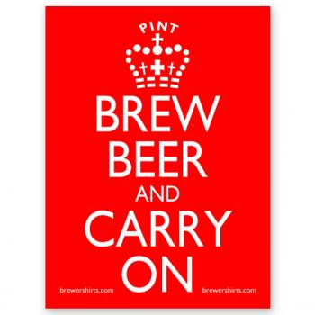 Brew Beer and Carry On Sticker
