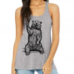 Beer Drinking Grizzly Bear - Women's Flowy Tank