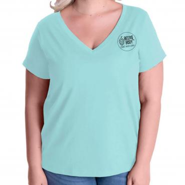 Craft Beer Girl Gang Curvy V-Neck