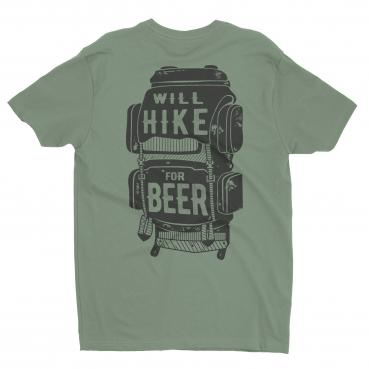 Will Hike for Beer Backpack Graphic Tee