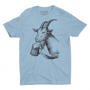 Bock Beer Drinking Goat Graphic Tee