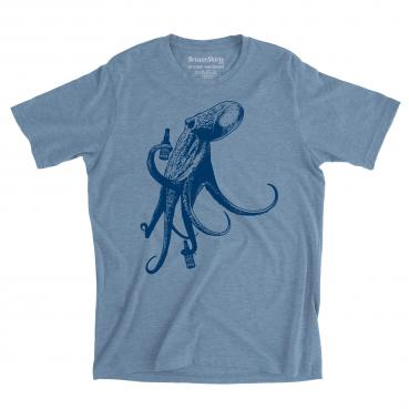 Beer Drinking Octopus Graphic Tee