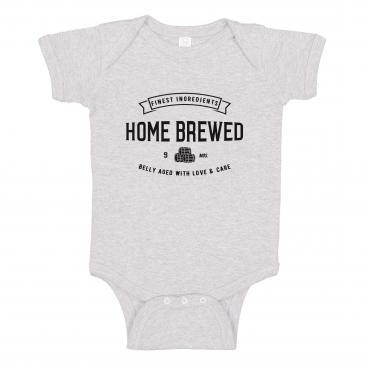 Home Brewed Onesie Bodysuit Romper Craft Beer Lover Brewer Baby Shower Gift