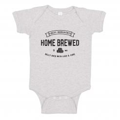 Home Brewed Onesie Bodysuit Romper Craft Beer Lover Brewer Baby Shower Gift