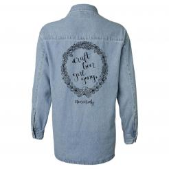 Craft Beer Girl Gang Long Sleeve Womens Denim Shirt