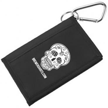 Sugar Skull Carabiner Wallet