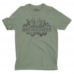 Beergineer graphic tee t-shirt gift for brewery workers and craft beer home brewers