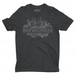 Brewgineer graphic tee t-shirt gift for brewery workers and craft beer home brewers