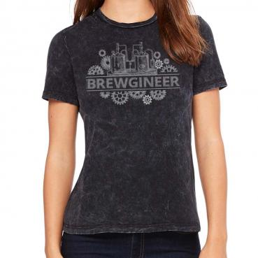 Brewgineer Womens Beer Brewing Brewer Pink Boots Society T-shirt