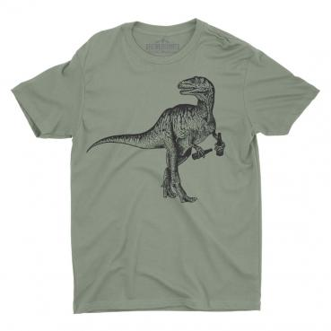 Beer Drinking Dinosaur Graphic Tee