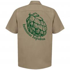 Humulus Lupulus Hops Craft Beer - Brewer Work Shirt