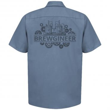 Brewgineer Craft Beer Brewer Brewery Work Shirt