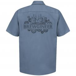 Brewgineer Craft Beer Brewer Brewery Work Shirt