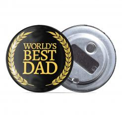 Worlds Best Dad Award - Fridge Magnet Bottle Opener