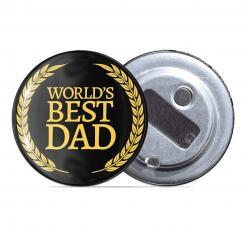 Worlds Best Dad Award - Fridge Magnet Bottle Opener
