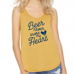 Beer Never Broke My Heart Womens Festival Tank