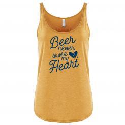 Beer Never Broke My Heart Womens Festival Tank
