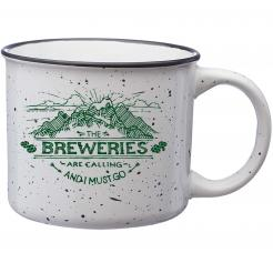 The Breweries are Calling and I Must Go - Speckled White Campfire Mug