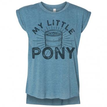 My Little Pony Women's Flowy Muscle Tee With Rolled Cuff