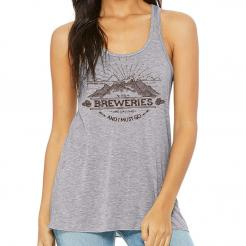 Breweries are Calling - Mountain Womens Flowy Racerback Tank