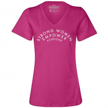 Strong Women Empower Everyone - Womens Relaxed V-Neck Tee
