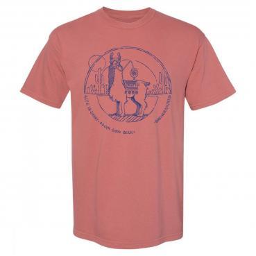 Beer drinking llama camping hiking campfire beer unisex graphic tee t-shirt
