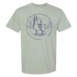Beer drinking llama spirit animal unisex graphic tee t-shirt