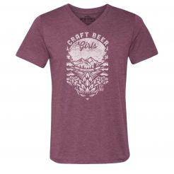 Craft Beer Girls Hiker Adventure Triblend Unisex V-Neck Tee