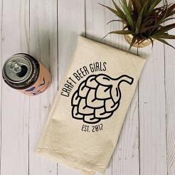 Craft Beer Girls Logo Tea Towel