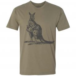 Beer Drinking Buddy Kangaroo Graphic Tee